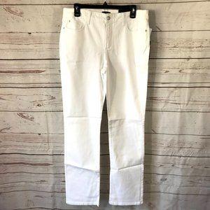 NYDJ Marilyn Straight Leg Jeans Optic White